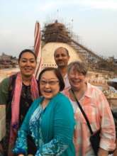 Boudhanath Stupa being repaired after earthquake