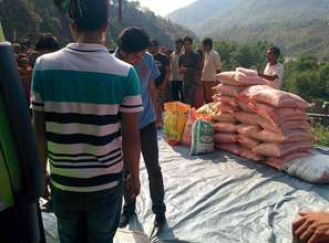 Bringing food and water to outlying villages