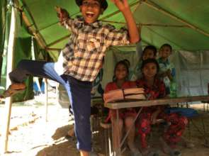 Jumping for joy for an education