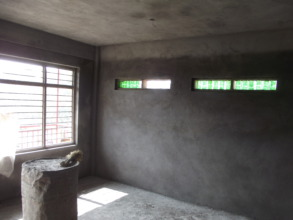 But we're still repairing classrooms like this one