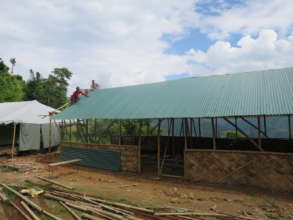 A temporary classroom