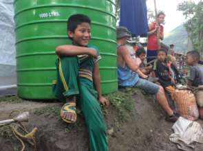Water tanks for earthquake survivors