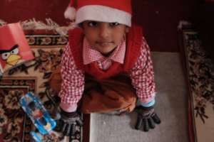 We recently held a Christmas party at an orphanage