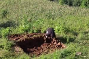 Main Collumns Being Excavated by Hand