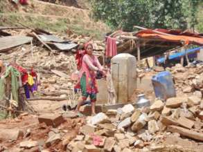 Destroyed village in Sindhupalchowk