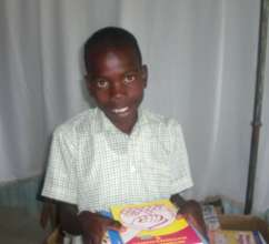 Happy student with new books