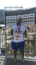 Billy Prophete Running the Baltimore Marathon