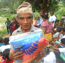 Beneficiary in the relief camp