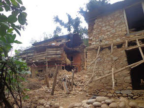 Collapsed house in Nuwakot
