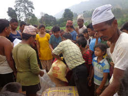 Distributing relief materials