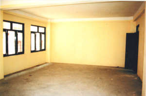One of the newly painted classrooms