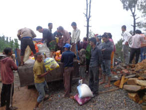 Distribution of relief materials