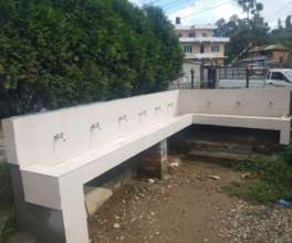 The completed drinking water station