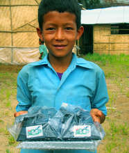 A happy Student with Solar Tuki
