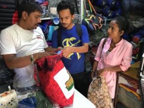 Prabal and Sarita commission tiger bags