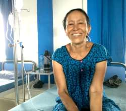 Ratna Shrestha, relieved after her operation