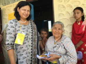 Indira Thapa (l) from CWN at the 2018 health camp