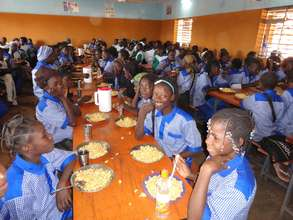 Lunchtime at the middle/secondary school.