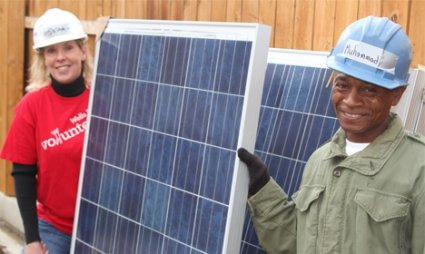 Provide solar power and solar jobs to veterans