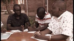 Filmmaker Mwiza Nyirenda discussing LGBT rights