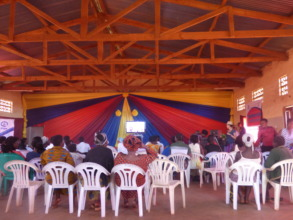 Viewers watch UMUNTHU at the Tumaini Arts Festival