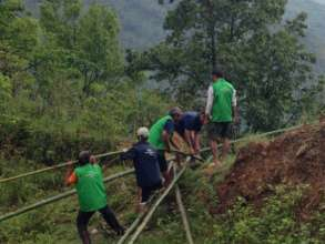 Cutting bamboo for new construction