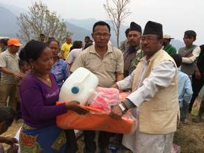 Distribution of immediate relief items