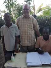 Signing the contract forthe land