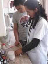 Nurses preparing medicines for a new arrival