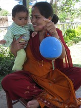 Sita with a healthy-looking Nischita