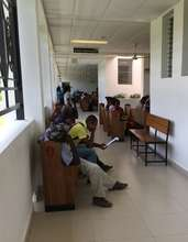 GO's booklets in a hospital waiting room in Haiti