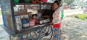 Jyoti running her business