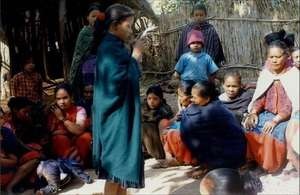 Young Girl Educating Mothers on Children's Rights