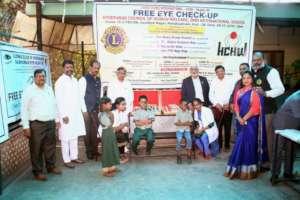 Eye checkup camp by Lions Club International