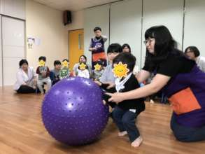 Rolling a big ball
