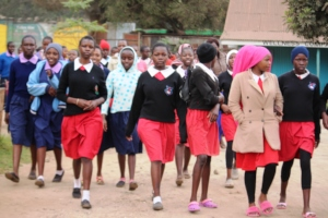 Girls Arriving in Numbers to meet the Ambassadors