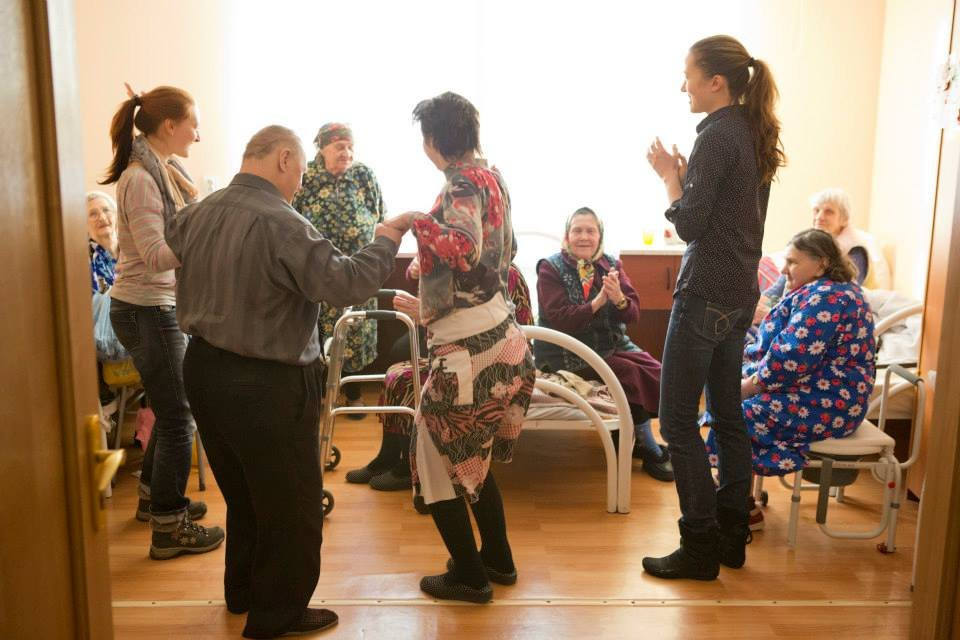 Nurses for old and disabled people in Russia
