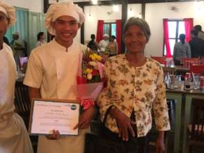 Koan graduating from Haven with his very proud mum
