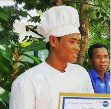 Student K graduating