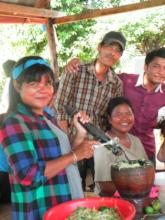 Preparing delicious food on World Teachers Day