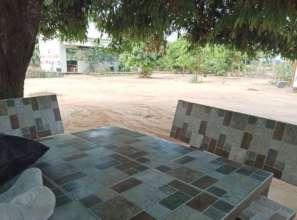 Our quiet, empty school yard