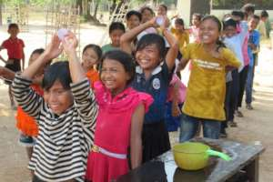 Water games at our Khmer New Year party