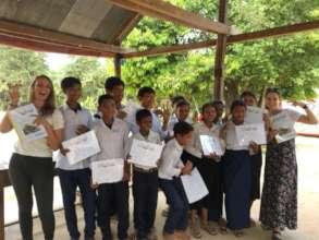 Presentation of creative writing certificates