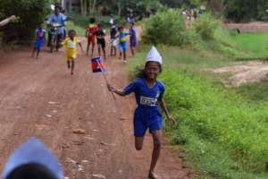 Mid race at the Temple Run 2019