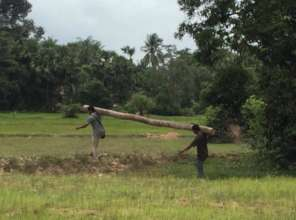 Local villagers giving a helping hand!