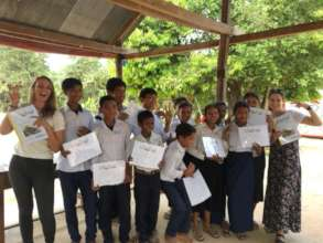 Our students receiving their certificates