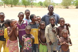 Family Happy To Have Water, and now Solar Light