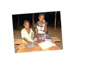 Kamsi School Girls Studying With Flashlight