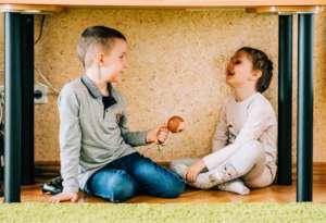 Yeva and Makar are happy