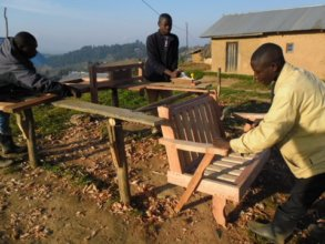 Some rescued young men learn carpentry skills